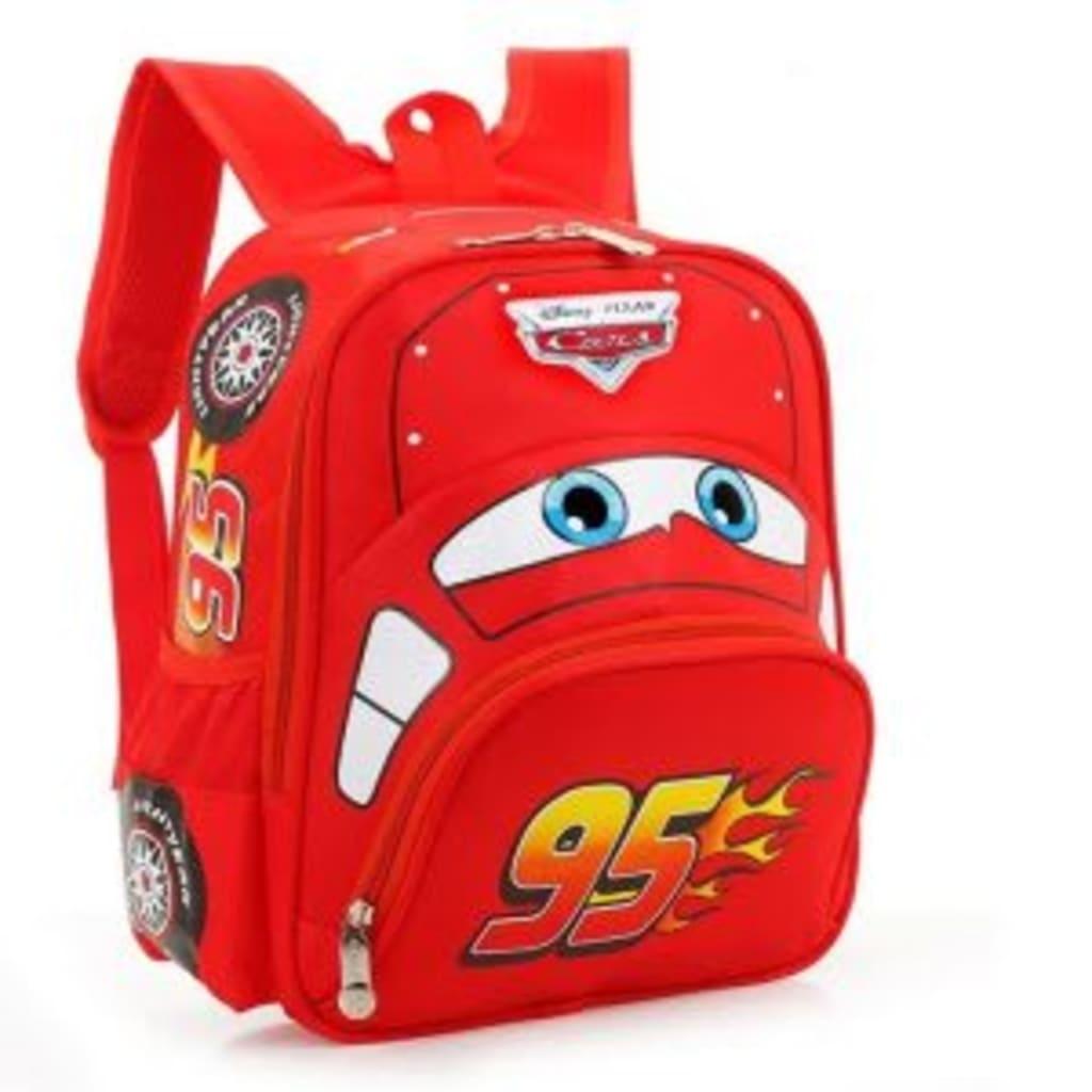 kid 3d mcqueen cars school kindergarten backpack harga