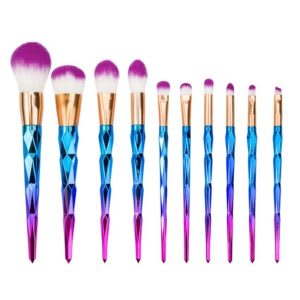 Cheap unicorn makeup brush set