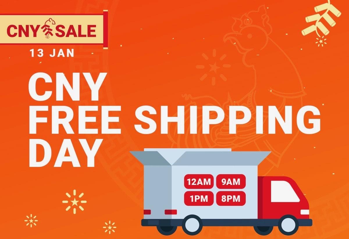 Shopee CNY free shipping rm18