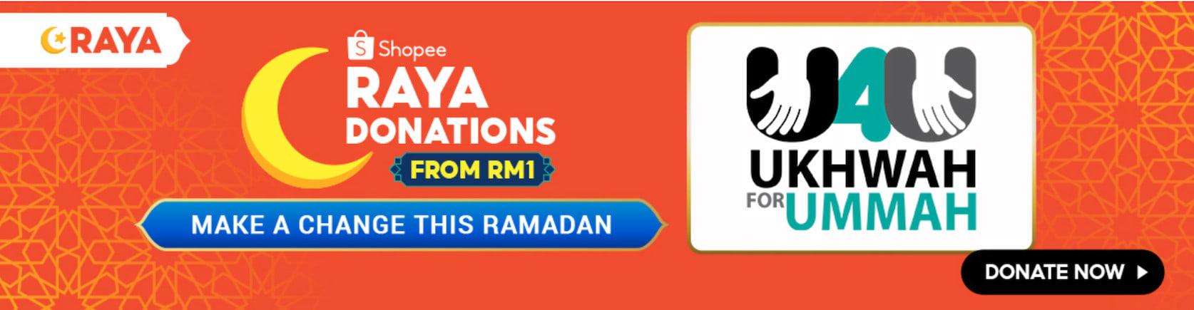 shopee raya sale malaysia donate