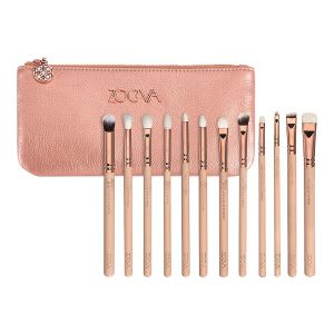 Eye makeup brush set with bag