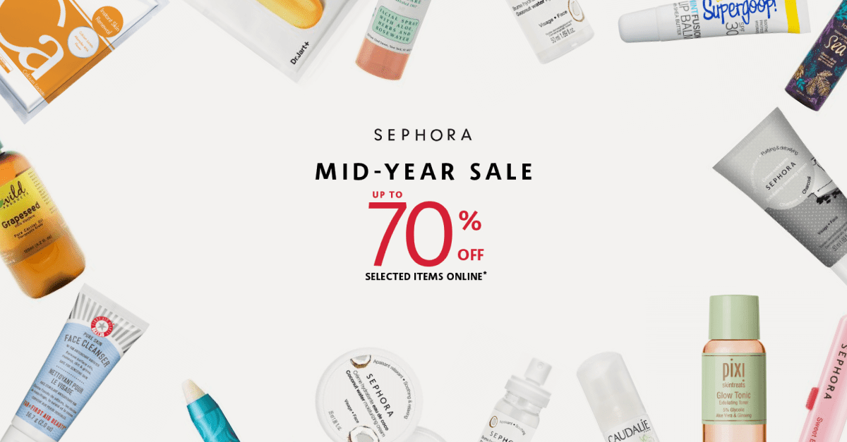 Promo Code] Sephora Malaysia's Online Mid-Year Sale 2019