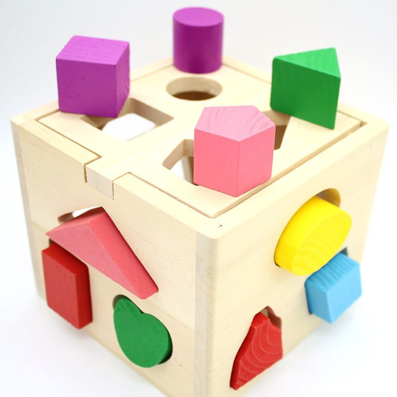 13 Holes Shape Sorting Cube Box Blocks Educational Toys Harga Review Ulasan Terbaik Di Malaysia 2020