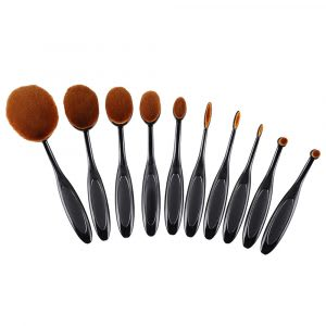 Cheap oval makeup brush set