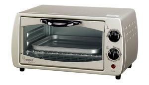 Toaster oven with grill on top