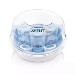 Baby bottle sterilizer for microwave