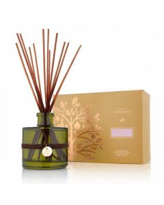 Air freshener with wooden sticks and essential oil