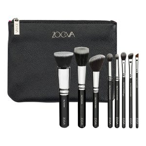 Vegan travel makeup brush set