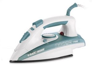 Clothes iron with temperature control