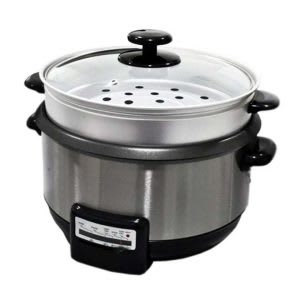 Food steamer with rice bowl – ideal for cooking rice