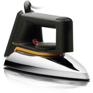 Clothes iron with headlight